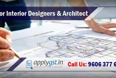 gst registration for interior designers and architects
