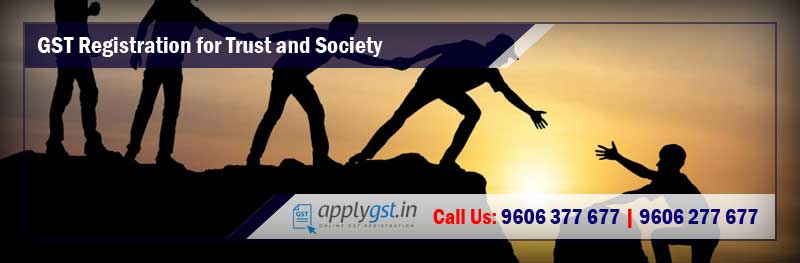 GST Registration for Trust and Society